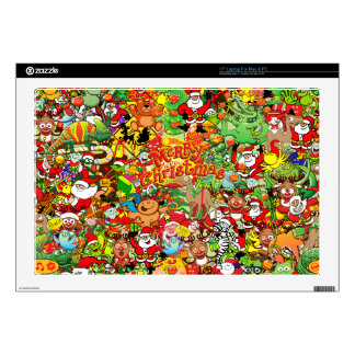 "In Christmas melt into the crowd and enjoy it Decal For 17"" Laptop"
