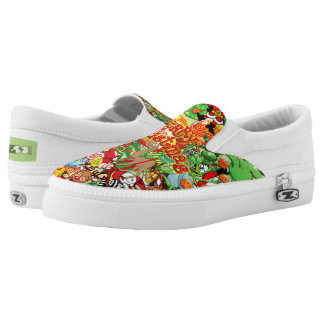 In Christmas melt into the crowd and enjoy it Printed Shoes