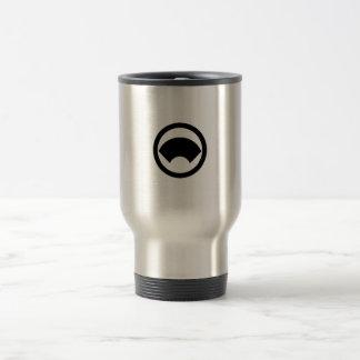 In circle area paper travel mug