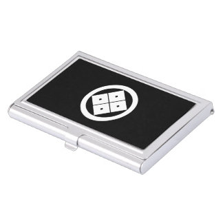 In circle corner raising four squares case for business cards