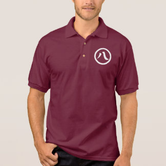 In circle eight letters polo shirt