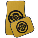 In circle Japanese quince Car Floor Mat