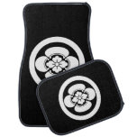 In circle Japanese quince Car Mat