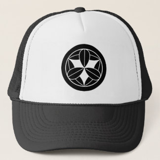 In circle nine bamboo grasses trucker hat