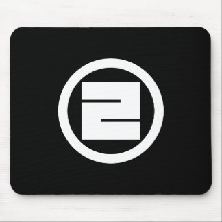 In circle one angular letter mouse pad