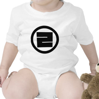 In circle one angular letter baby bodysuits