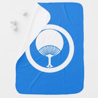 In circle round fan stroller blanket