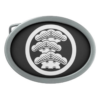 In circle the left three floor pine oval belt buckle