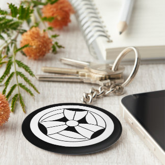 In circle three breaking bamboo grasses keychain
