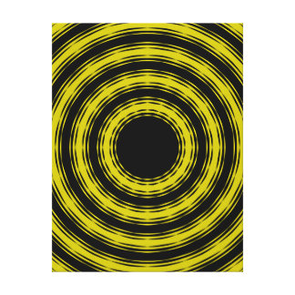 'In Circles (Yellow Version)' Canvas Print