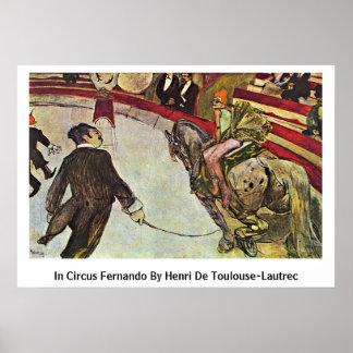 In Circus Fernando By Henri De Toulouse-Lautrec Poster