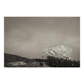 In clouds photo print