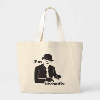 IN cognito man in a suit with a bowler hat Canvas Bags