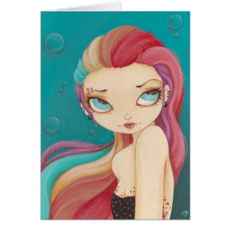 In Color - fairy mermaid punk rainbow card