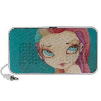 In Color - fairy mermaid punk rainbow Doodle Speaker