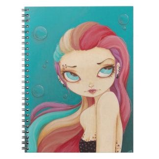 In color- Rainbow punk goth fairy notebook