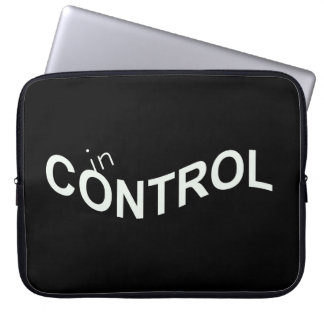 "in CONTROL on Black & White Fun Laptop 15"" Sleeve"