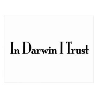 In Darwin I Trust Postcard