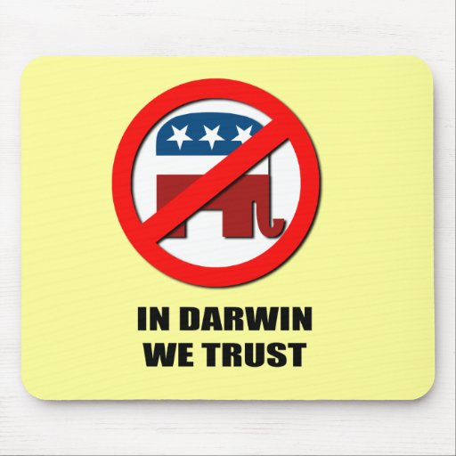 In Darwin we trust Mouse Pad