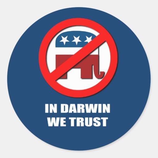 In Darwin we trust Stickers