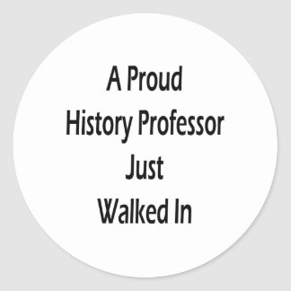 In de la historia orgullosa de profesor Just Etiqueta Redonda