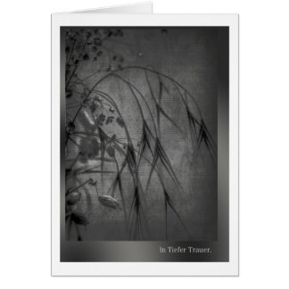 In deep mourning greeting card