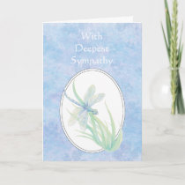 In Deepest Sympathy Beautiful Blue  Dragonfly Card