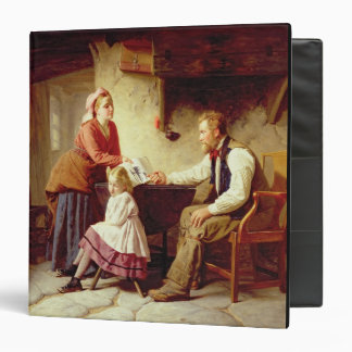 In Disgrace, 1875 (oil on canvas) 3 Ring Binder