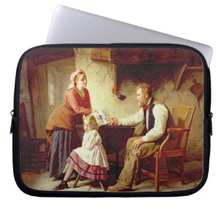 In Disgrace, 1875 (oil on canvas) Computer Sleeve