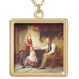In Disgrace, 1875 (oil on canvas) Gold Plated Necklace