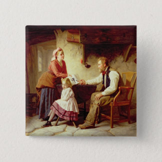 In Disgrace, 1875 (oil on canvas) Pinback Button