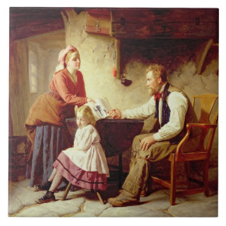 In Disgrace, 1875 (oil on canvas) Tile