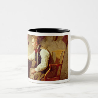 In Disgrace, 1875 (oil on canvas) Two-Tone Coffee Mug