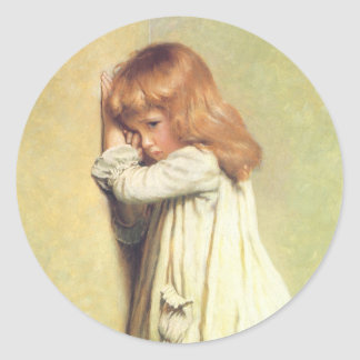 In Disgrace by Charles Burton Barber Classic Round Sticker