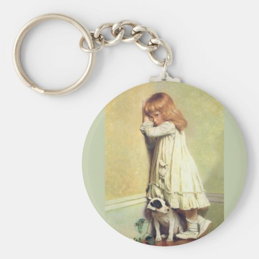 In Disgrace by Charles Burton Barber Keychain