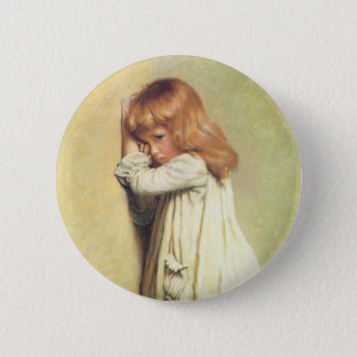 In Disgrace by Charles Burton Barber, Vintage Art Button