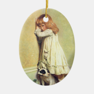 In Disgrace by Charles Burton Barber, Vintage Art Ceramic Ornament