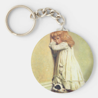 In Disgrace by Charles Burton Barber, Vintage Art Keychain