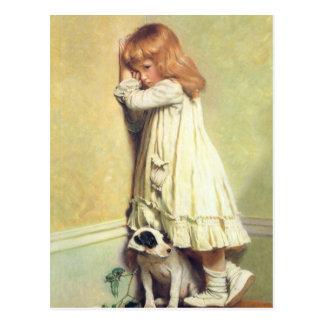 In Disgrace by Charles Burton Barber, Vintage Art Postcard