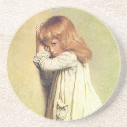 In Disgrace by Charles Burton Barber, Vintage Art Sandstone Coaster