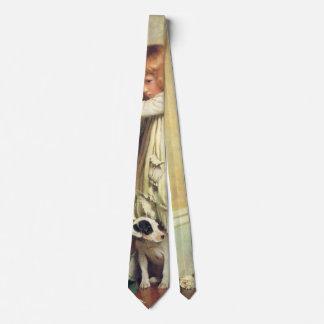 In Disgrace by Charles Burton Barber, Vintage Art Tie