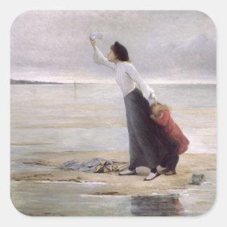 In Distress, Rising Tide Square Sticker