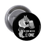 In Dog Beers  For Dark Background Pin