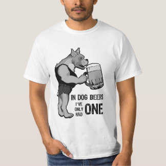 In Dog Beers For Light Background T-Shirt