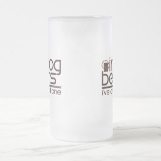 In Dog Beers.... Frosted Glass Beer Mug