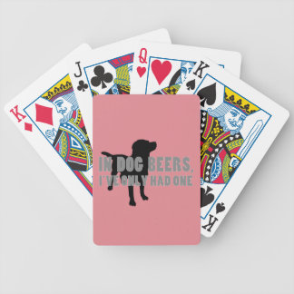 In Dog Beers Joke Bicycle Playing Cards