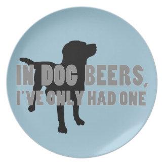 In Dog Beers Joke Party Plate