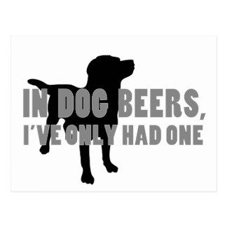 In Dog Beers Joke Postcard