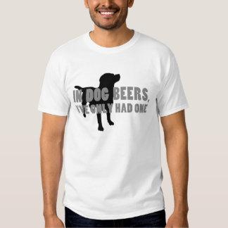 In Dog Beers Joke Tee Shirt