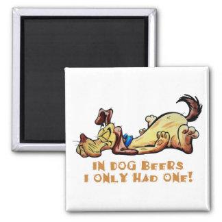 In Dog Beers Fridge Magnet
